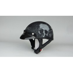 casque demi bol N306 skull