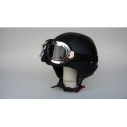 casque demi bol cuir noir N62
