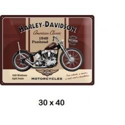 plaque métalique Harley...