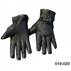 gants en cuir noir souple...
